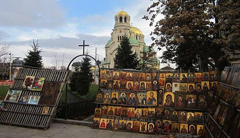 Blick auf die Alexander-Newski-Kathedrale